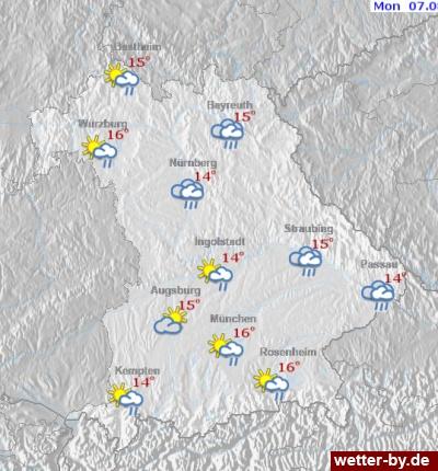 Wetterkarten Bayern