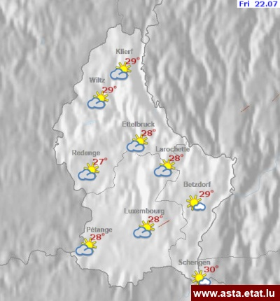 Wetterkarten Luxemburg